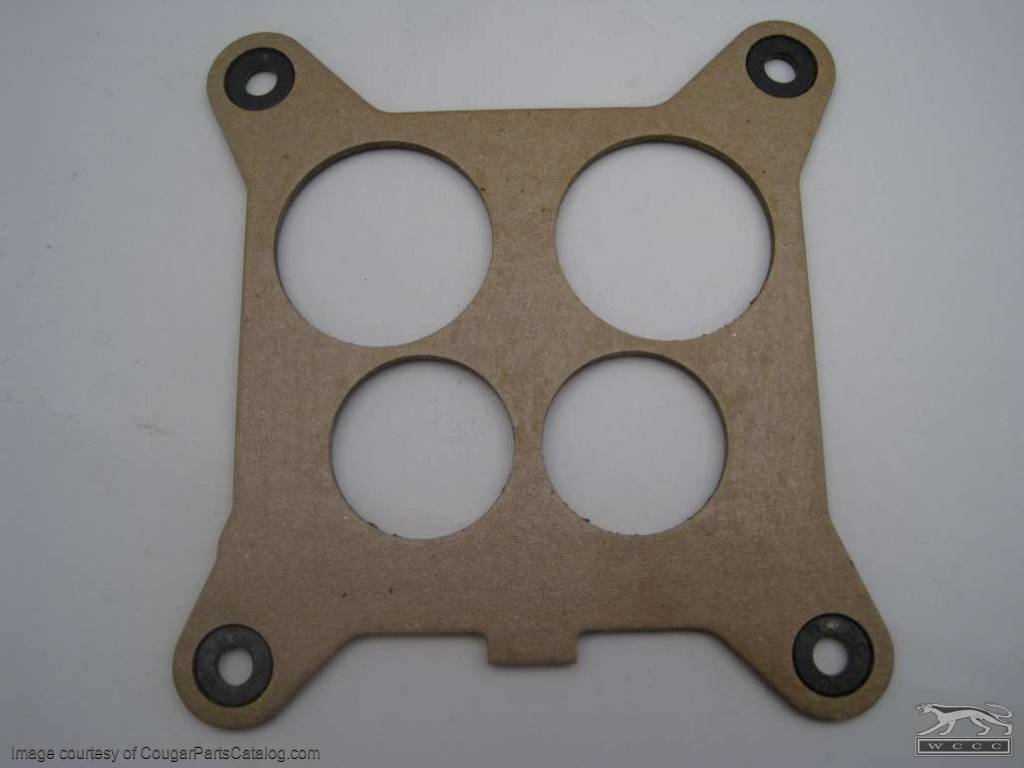 Carburetor Gasket - Upper Carburetor Spacer - 351C-4V - Repro Fits: 1973  Mercury Cougar / 1973 Ford Mustang