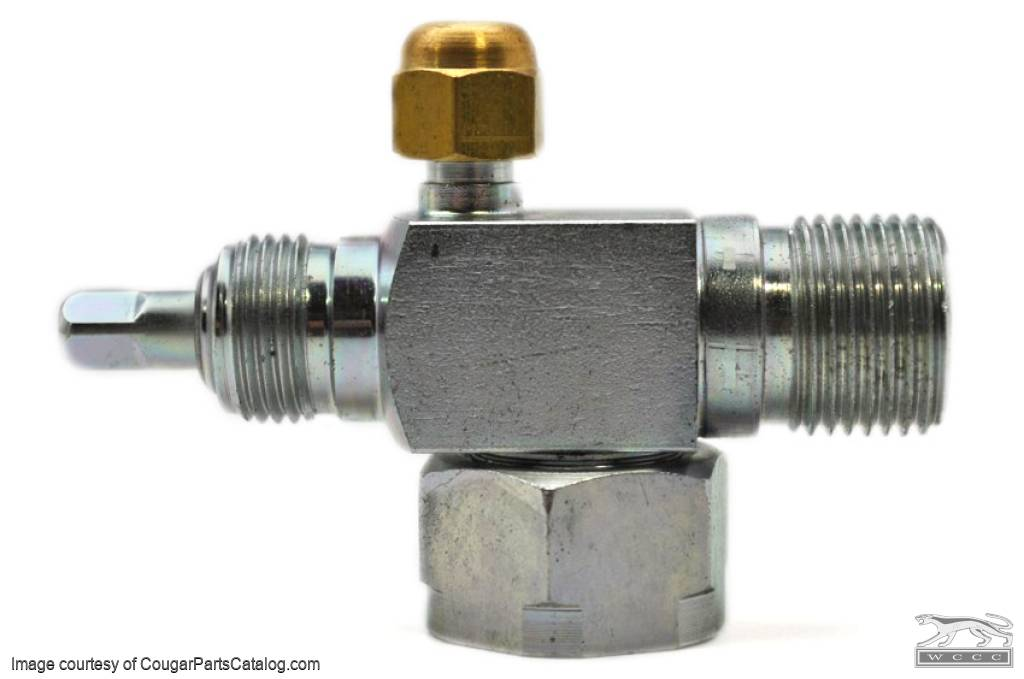 A-C Suction Service Valve - Repro ~ 1970 - 1973 Mercury Cougar - 1970 - 1973 Ford Mustang