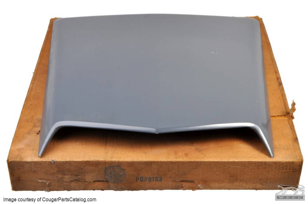 Hood Scoop - Eliminator / Cobra Jet - NOS ~ 1969 - 1970 Mercury Cougar 16c630,1969,1969 cougar,1970,1970 cougar,c9w,c9wy,cobra,cougar,d0w,eliminator,hood,jet,mercury,mercury cougar,new,new old stock,nos,old,scoop,stock
