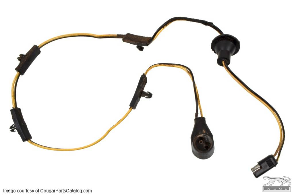 wiring harness and plug - fuel sending unit - used ~ 1971 - 1972 mercury  cougar / 1971 - 1972 ford mustang ( 1971 mercury cougar, 1972 mercury  cougar, 1971