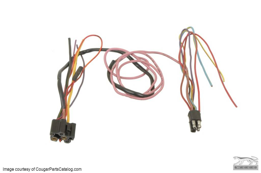 wiring pigtails - ignition switch / system - w/ resistance wire - standard  - used ~ 1968 mercury cougar ( 1968 mercury cougar ) at west coast classic  cougar