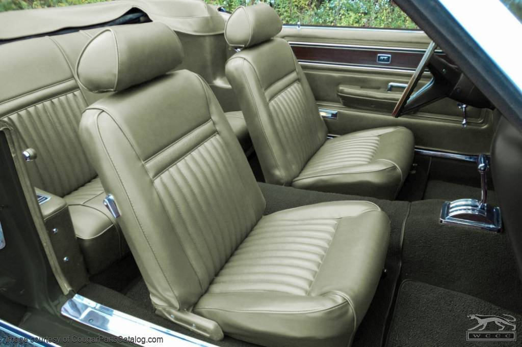 Vinyl interior upholstery convertible decor light ivy gold light green complete kit for 1969 mercury cougar interior parts