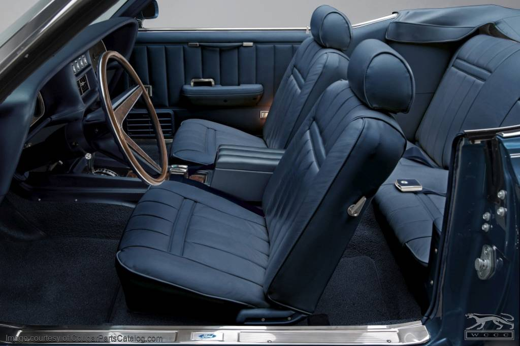 vinyl interior upholstery convertible xr7 dark blue complete kit repro 1969 mercury. Black Bedroom Furniture Sets. Home Design Ideas
