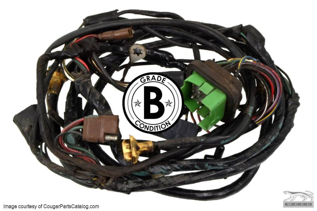 under hood wiring harness standard grade b used ~ 1969 mercury 1969 Cougar Exhaust System under hood wiring harness standard grade b used ~ 1969 mercury cougar