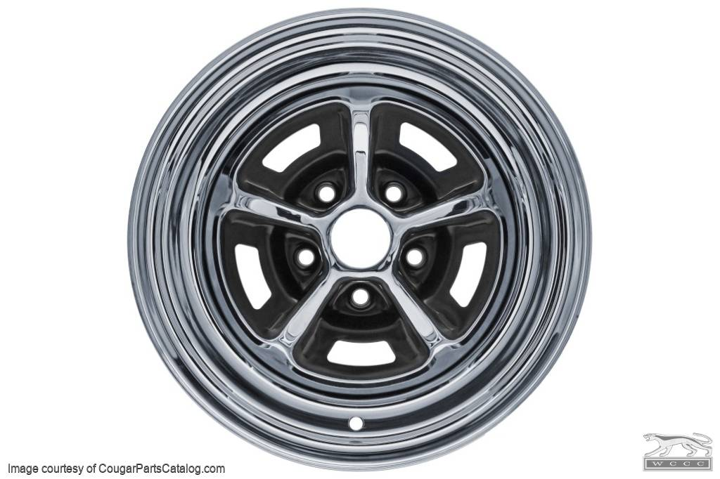 Magnum 500 Wheels >> Magnum 500 Wheel 15 X 6 Inch Repro Fits 1967 1973 Mercury Cougar 1967 1973 Ford Mustang