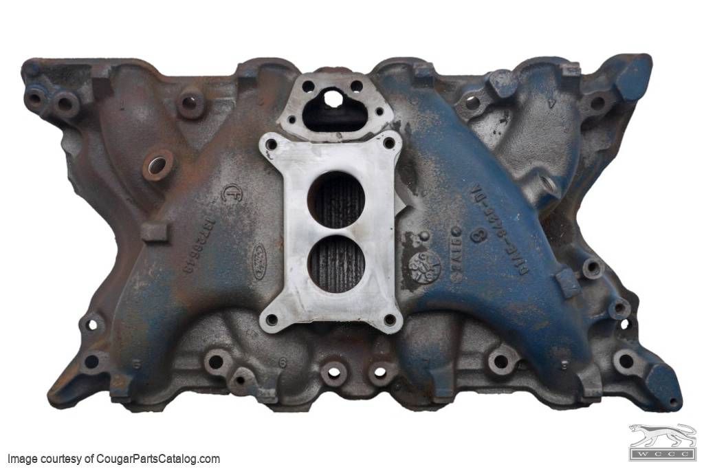 Intake Manifold - 351C-2V - Used Fits: 1971 - 1972 Mercury Cougar / 1971 -  1972 Ford Mustang