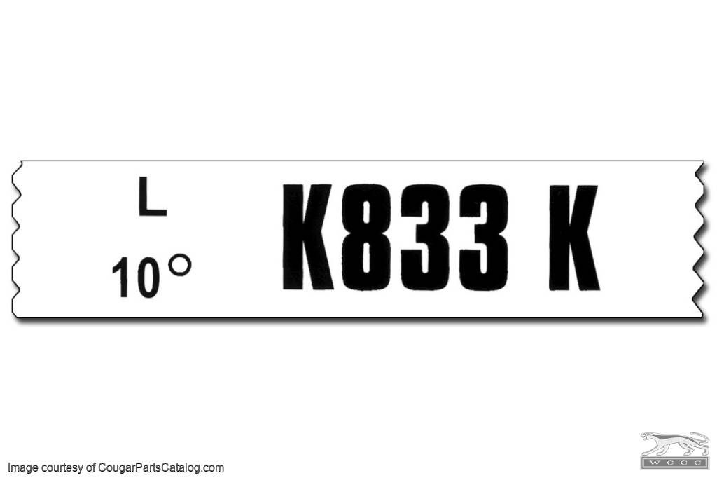 429 cj at w- out air engine code decal - repro