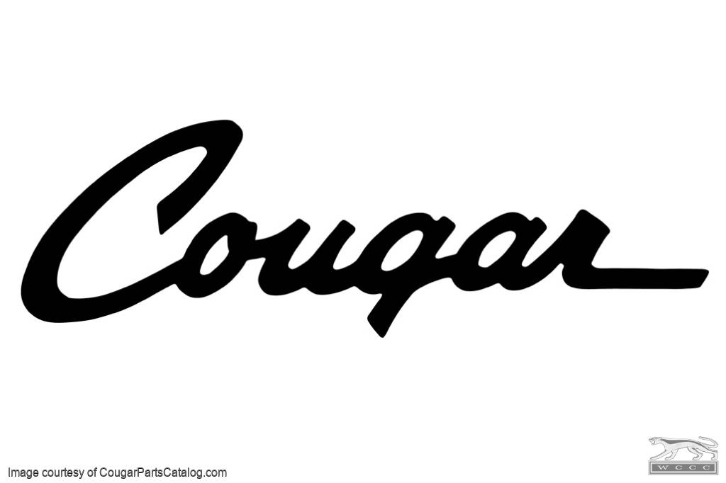 window decal - cougar script - new