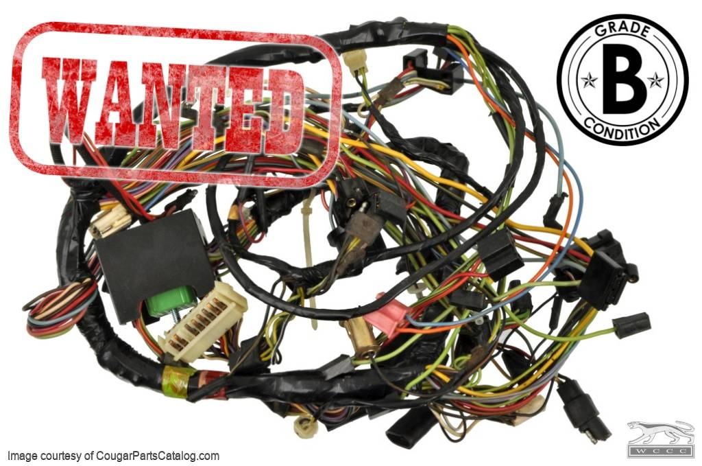 under dash wiring harness with a c xr7 eliminator grade b rh secure cougarpartscatalog com  1967 cougar wiring harness