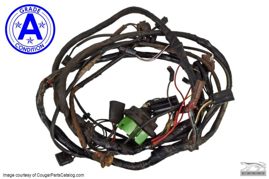 under hood wiring harness xr7 grade a used 1969 mercury rh secure cougarpartscatalog com