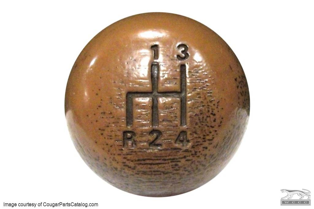 Shift Knob - 4 Speed - Used Fits: 1968 - 1969 Mercury Cougar / 1969 - 1970  Shelby