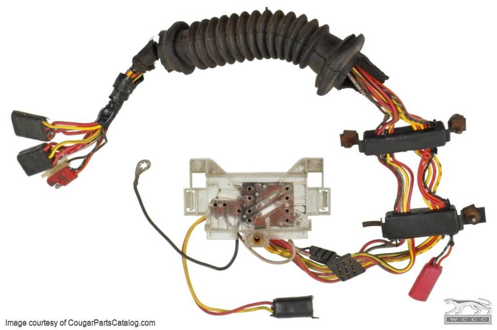 1438291310_f door wiring harness power window driver side used ~ 1973 1990 Mustang Wiring Harness at gsmx.co