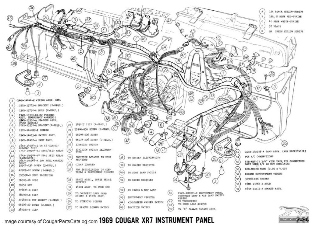 13497 Manual  plete Electrical Schematic Free Download 1969 Mercury Cougar on 99 mustang fuse box diagram