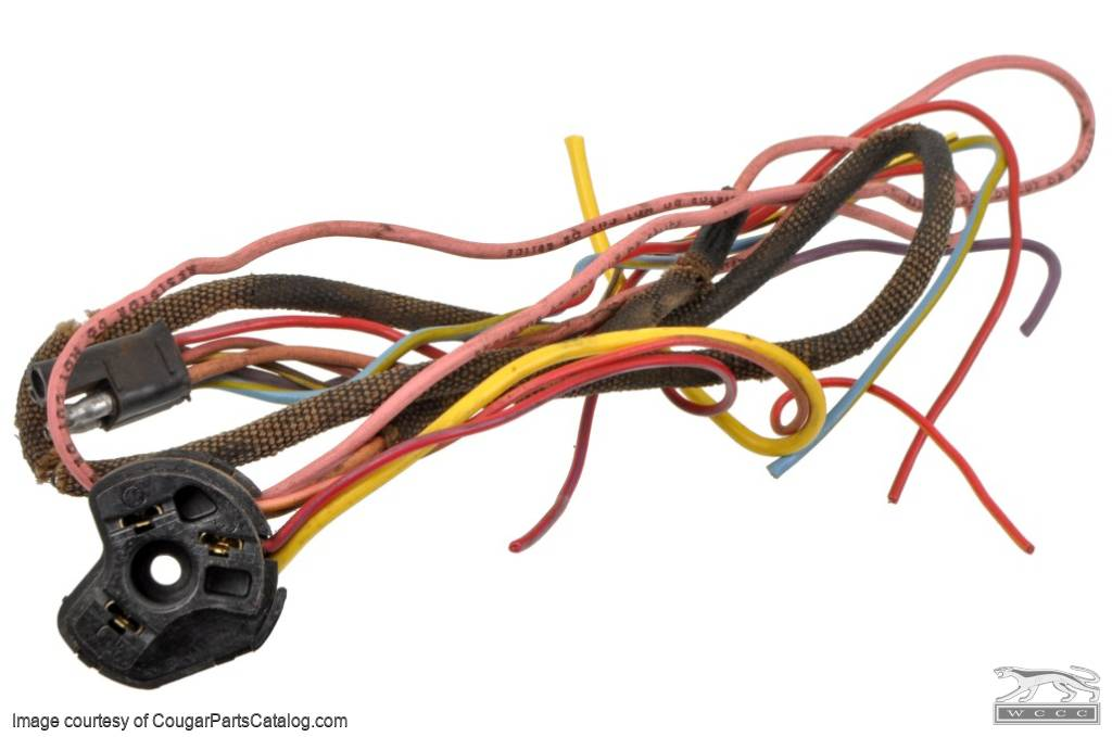 wiring pigtail under dash harness ignition switch plug used rh secure cougarpartscatalog com
