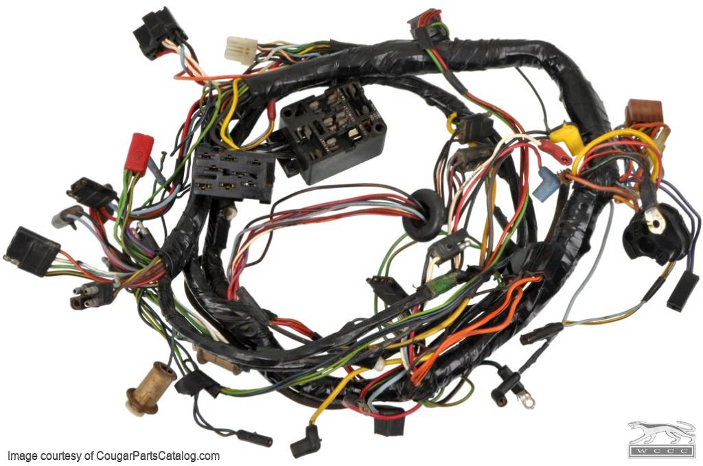 1367429978_y under dash wiring harness standard grade b early before 1 1969 mustang under dash wire harness at virtualis.co