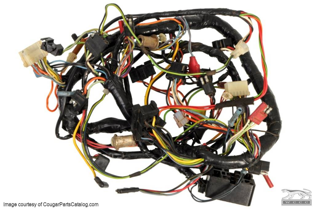 1344559231_i under dash wiring harness standard grade a used ~ 1968 cougar wiring harness at readyjetset.co