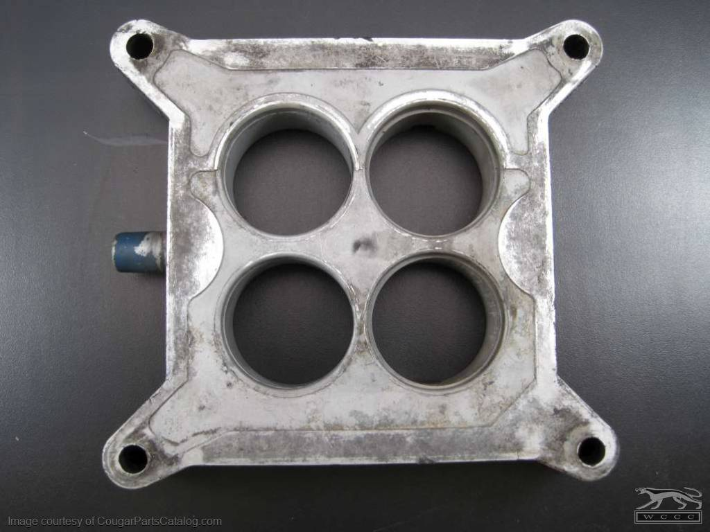 Carburetor Spacer Plate - 4V - 289 / 302 / 351W - Used Fits: 1967 - 1969  Mercury Cougar / 1967 - 1969 Ford Mustang