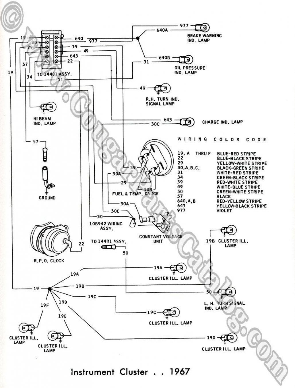 cougar tail light wiring diagram