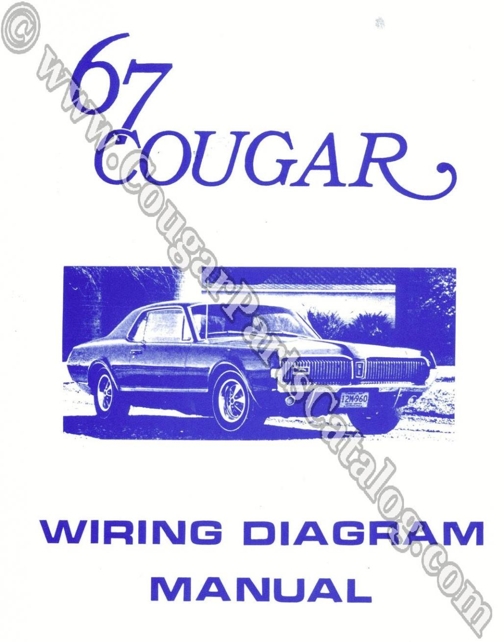 Manual - Wiring Diagram - Repro Fits: 1967 Mercury Cougar on