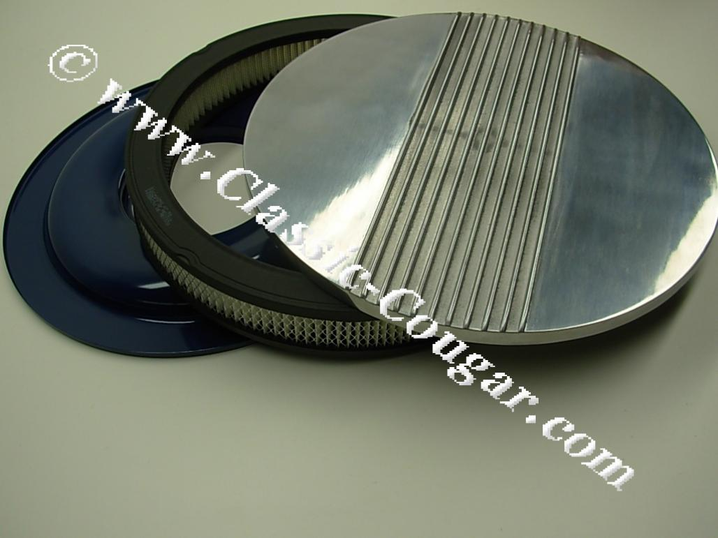 Finned Air Cleaner : Air cleaner assembly inch finned aluminum cal