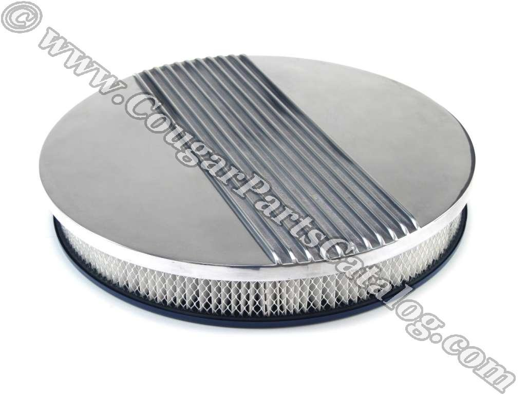 Cal Custom Air Cleaner : Air cleaner assembly inch finned aluminum cal