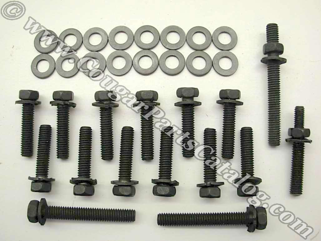 428 CJ Exhaust Manifold Bolts - Repro Fits: 1968 - 1970 Mercury Cougar -  1968 - 1970 Ford Mustang