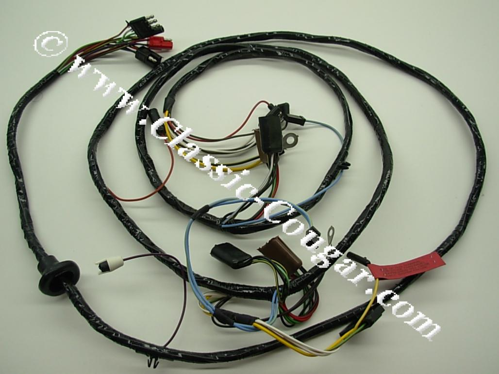 under hood wiring harness standard repro 1967 mercury cougar 1967 mercury cougar at west. Black Bedroom Furniture Sets. Home Design Ideas