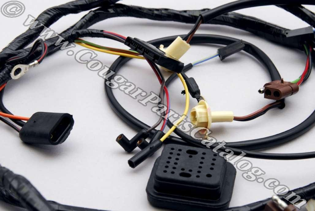 1969 mustang headlight wiring diagrams dash panel to headlight wiring harness - without tach ...