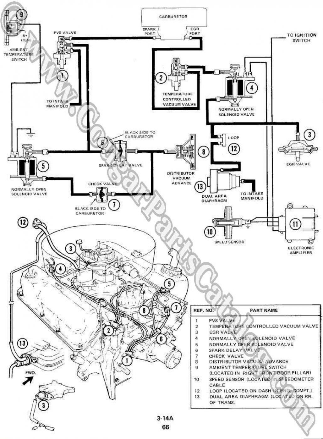 1965 mustang engine 289 diagram
