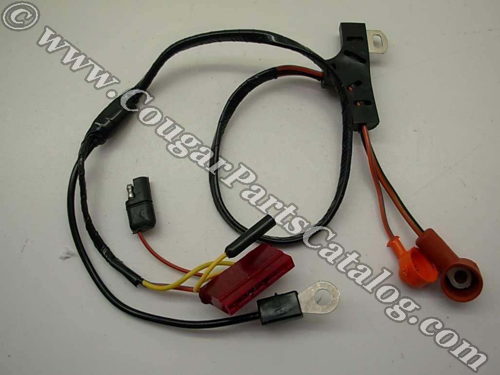 Alternator Wiring Harness Concours 390 Xr7 Repro 1967 Library 1972 Ford Mustang Standard Economy 1970 Mercury Cougar
