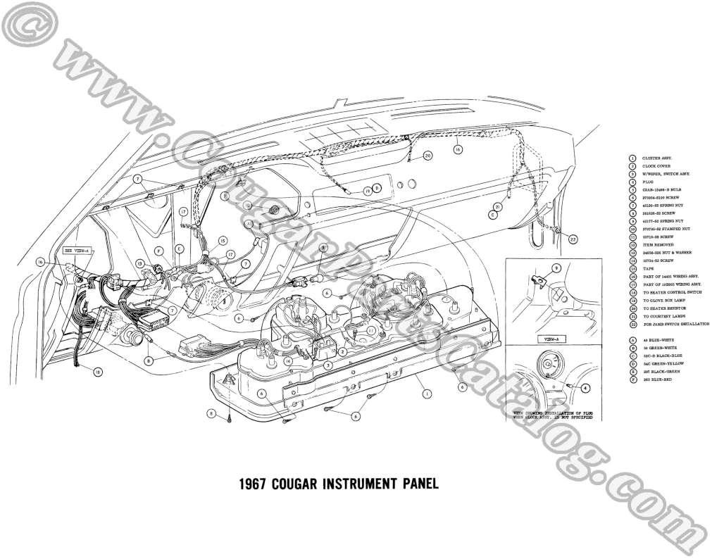 manual complete electrical schematic free download 1967 rh secure cougarpartscatalog com 1968 mercury cougar xr7 wiring diagram 1969 Mustang Wiring Diagram