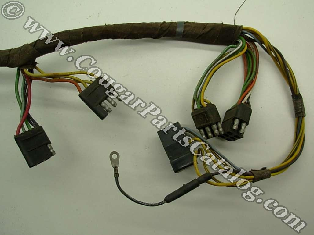 taillight wiring harness standard early before 1 3 1967 rh secure  cougarpartscatalog com 67 Cougar GT 67 Corvette