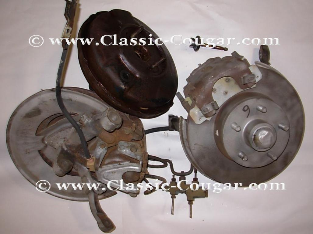 Disc Brake Conversion - Power - w/ New Rotors - Used ~ 1971 - 1973 Mercury  Cougar / 1971 - 1973 Ford Mustang