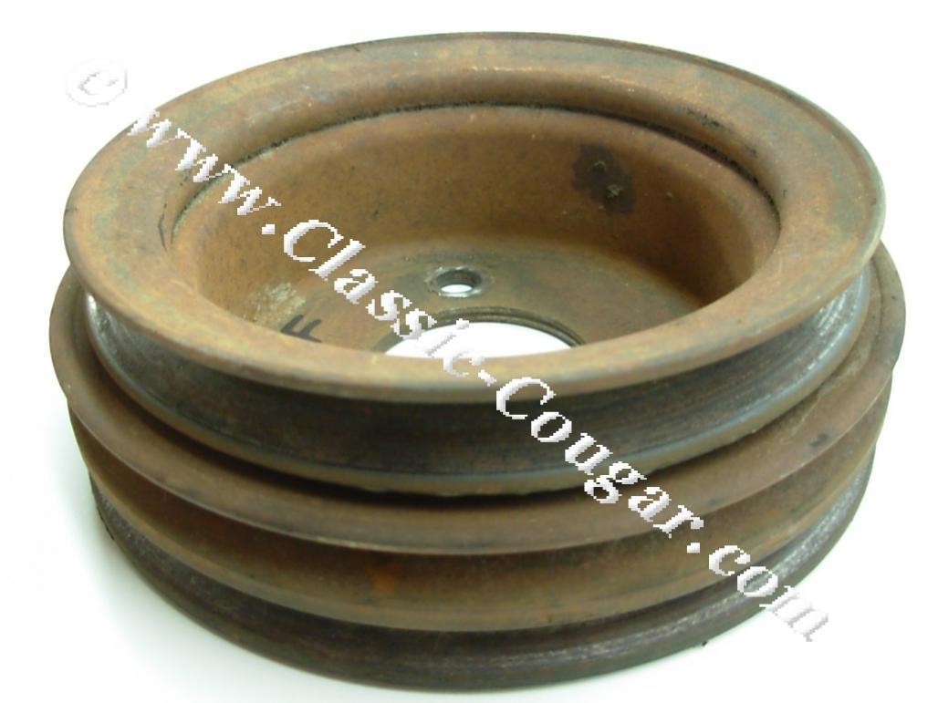 Pulley Crankshaft 390 427 Gt E 428cj C8ae 6312 D Used 1970 Ford Mustang 1968 Mercury Cougar
