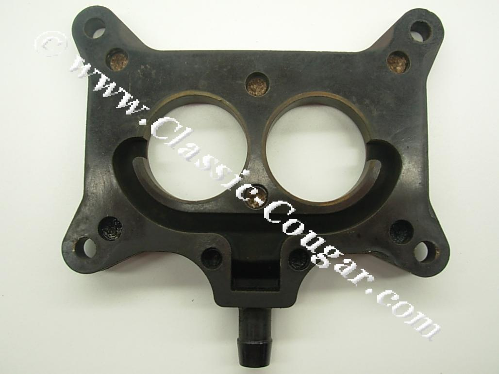 Carburetor spacer plate 390 2v x code used 1968 mercury cougar 1968 ford mustang 1968 mercury cougar 1968 ford mustang at west coast classic