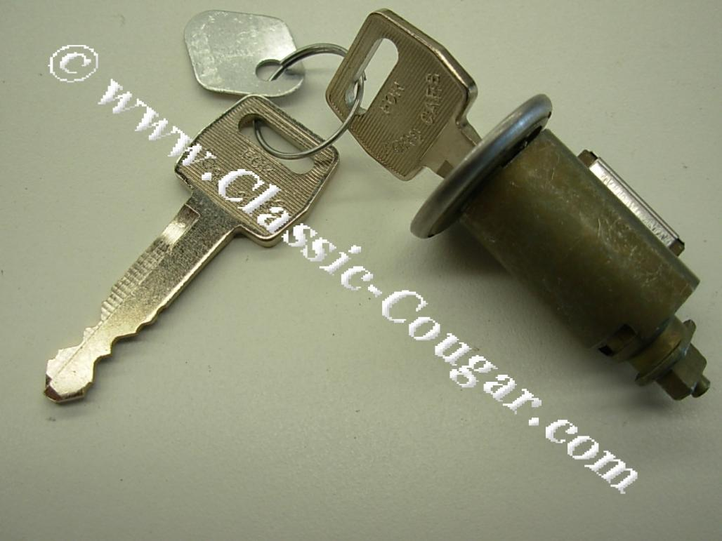 Ignition Lock Cylinder W 2 Keys Repro 1967 1969 Mercury Cougar Switch Wiring Ford Mustang 1968
