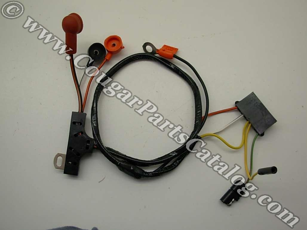 Alternator Wiring Harness - w/o Gauges - ECONOMY - Repro Fits: 1972 - 1973  Mercury Cougar / 1972 - 1973 Ford Mustang